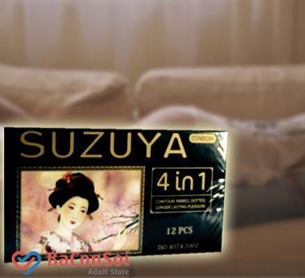 Sản Phẩm Bao Cao Su Suzuya  4 in 1 siêu mỏng, kéo dài thời gian quan hệ