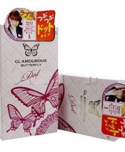 Sản Phẩm Bao Cao Su Jex Glamourous Butterfly Dot