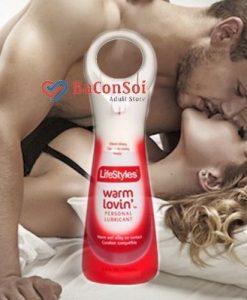 Gel bôi trơn Warm Lovin làm ấm khi quan hệ