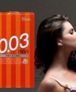 Sản Phẩm Bao Cao Su Jex Invi 0.03 Hot & Cool