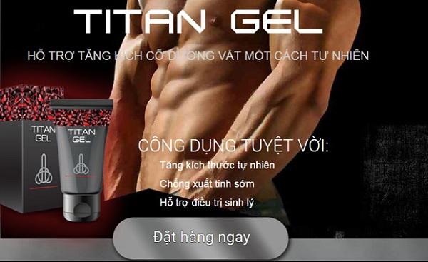 gel titan chính hãng