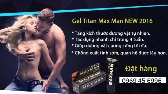 gel titan maxman 2016 bí quyết để tăng kích thước cậu nhỏ một